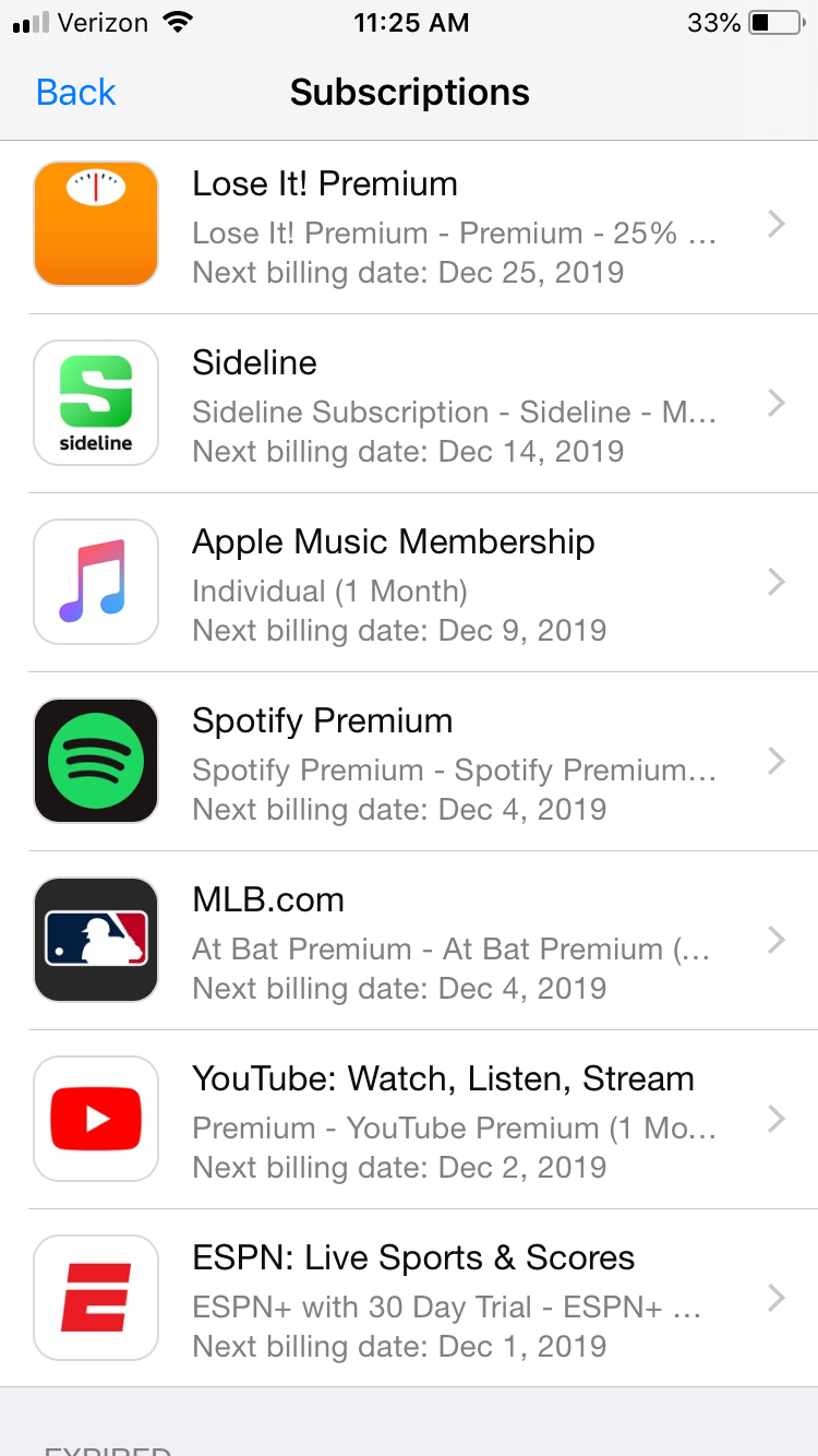 List of app subscriptions on iPhone you could cut to save money