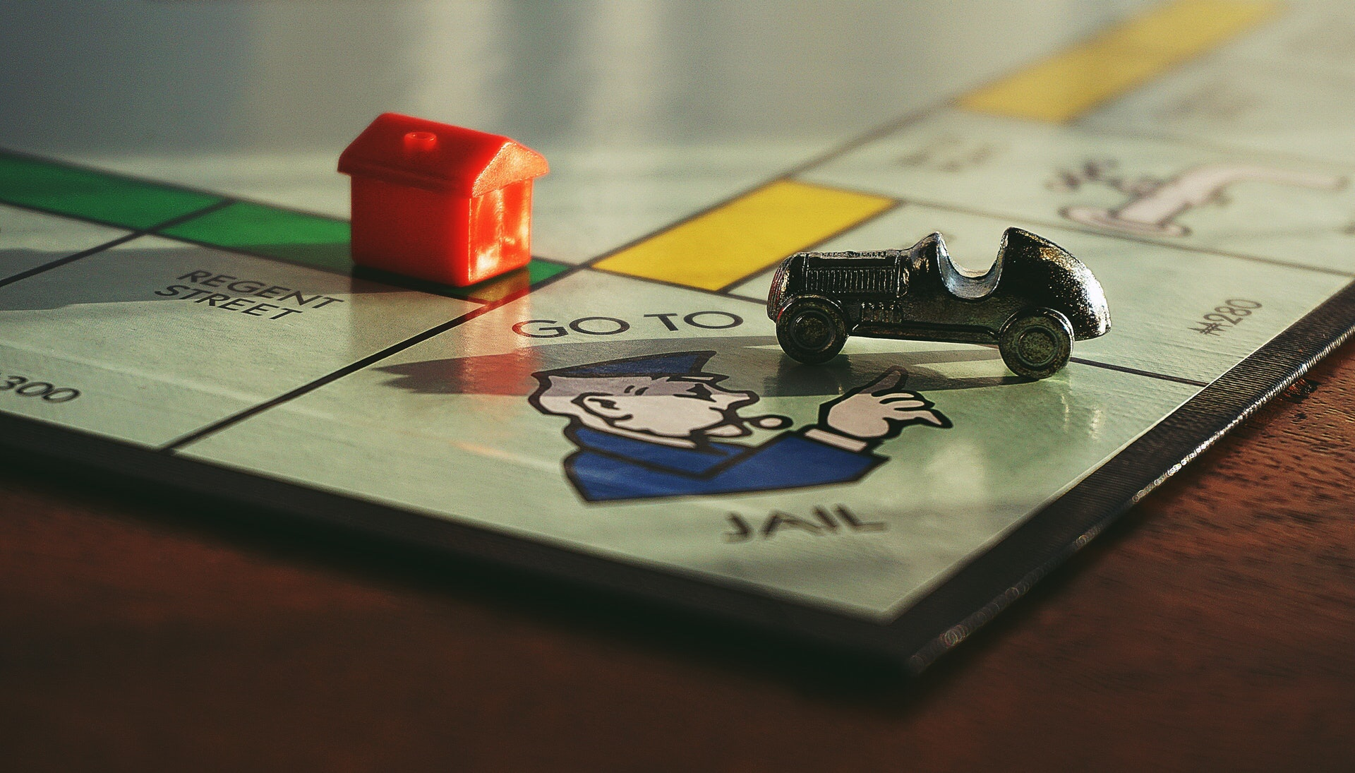 Close up photo of the popular money based game of Monopoly