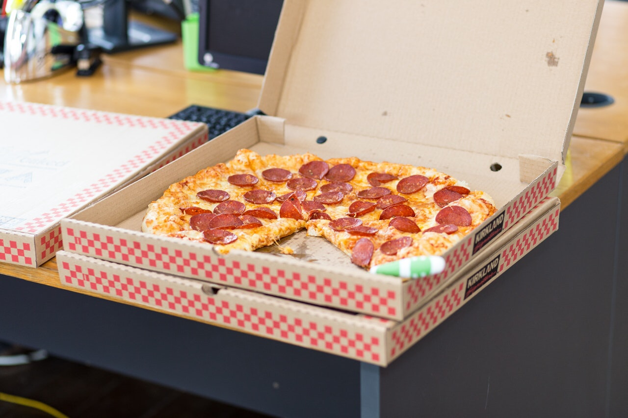 Pepperoni Pizza in a delivery box