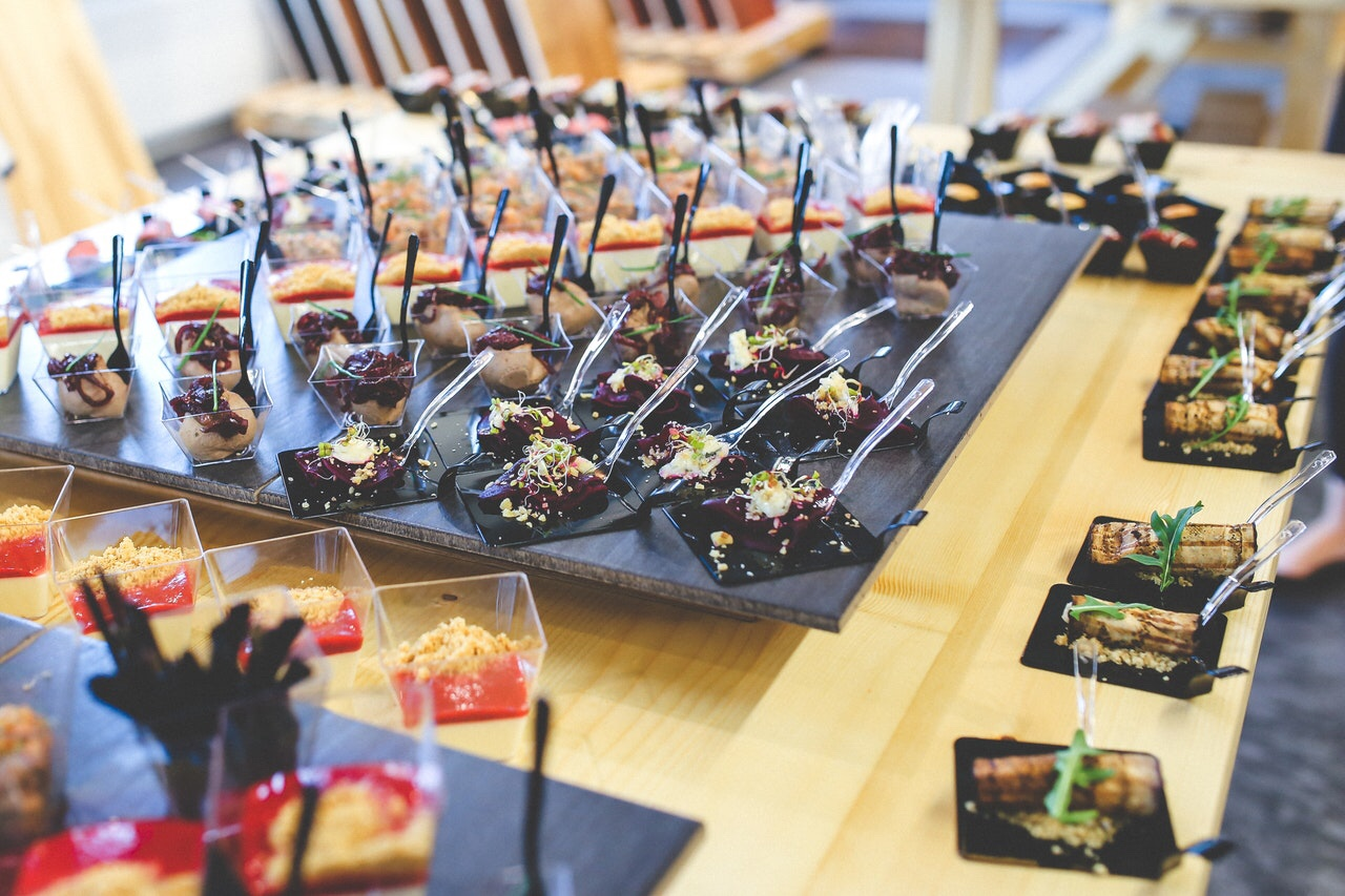 Food for a catering business