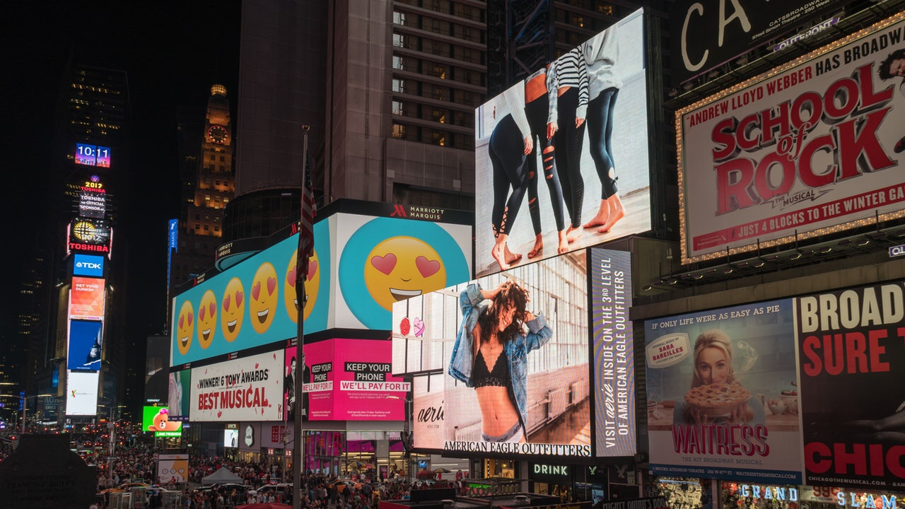 Advertisements in a big city