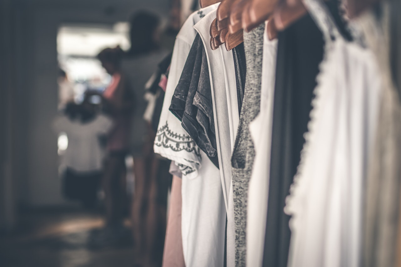 Clothes on a rack