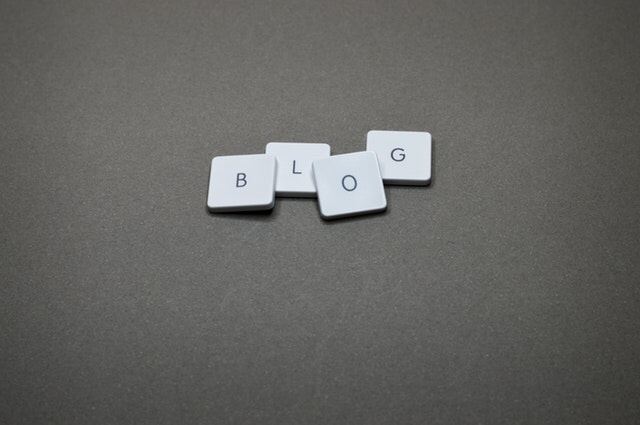 Blog spelled out with tiles