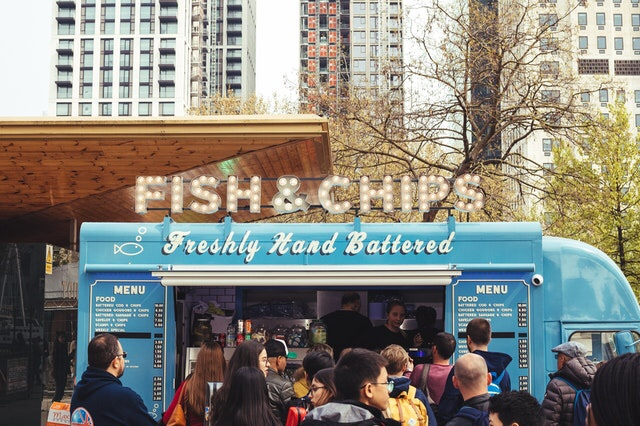 Blue Fish and Chips Food Truck