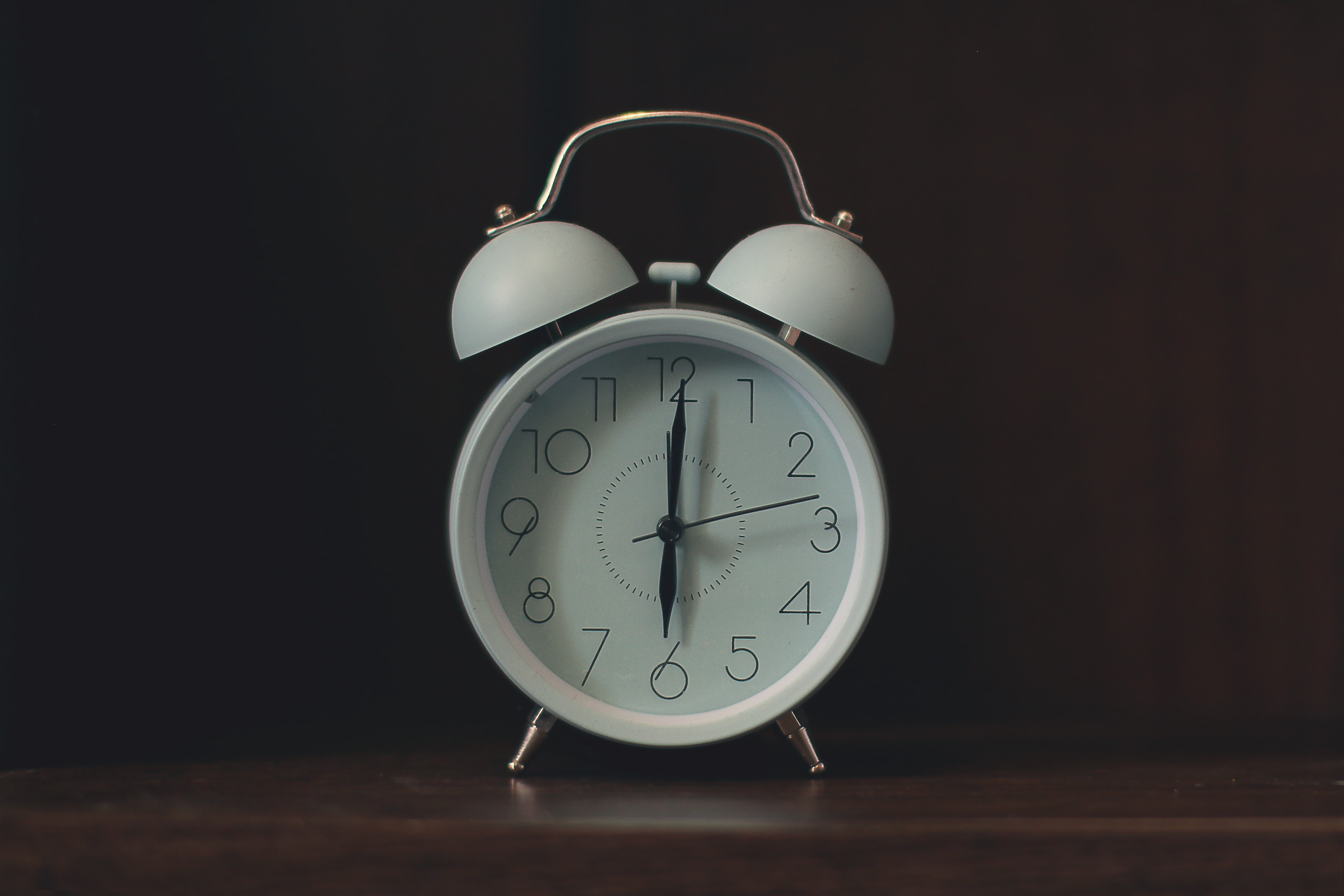 White alarm clock